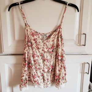 Floral, cropped tank top
